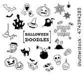halloween's doodles.hand... | Shutterstock .eps vector #474394285