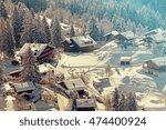 a quaint village in the swiss...   Shutterstock . vector #474400924