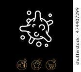 web line icon. bacterium  virus | Shutterstock .eps vector #474407299