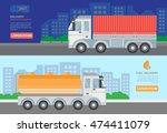 flat vector banner. fuel... | Shutterstock .eps vector #474411079