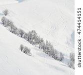 free ride ski trail in mountain ... | Shutterstock . vector #474414151
