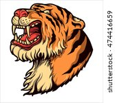 angry roaring tiger | Shutterstock .eps vector #474416659