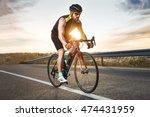 portrait of handsome young man... | Shutterstock . vector #474431959