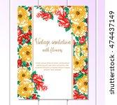vintage delicate invitation...   Shutterstock .eps vector #474437149