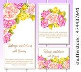 vintage delicate invitation... | Shutterstock .eps vector #474437641