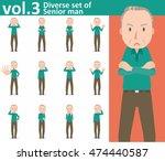 diverse set of senior man on... | Shutterstock .eps vector #474440587