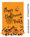 halloween party design template ... | Shutterstock .eps vector #474443704