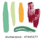 brush set  vector  | Shutterstock .eps vector #47445277