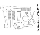 beauty accessories  coloring...   Shutterstock .eps vector #474459205