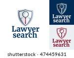 law firm logo design. lawyer... | Shutterstock .eps vector #474459631