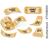 three dimensional tickets... | Shutterstock .eps vector #47448004