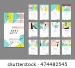calendar 2017. templates with...   Shutterstock .eps vector #474482545