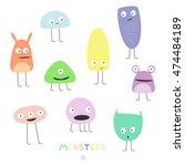 funny monster vector | Shutterstock .eps vector #474484189