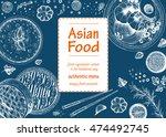 asian food frame. linear... | Shutterstock .eps vector #474492745