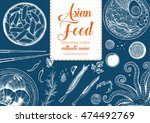 asian food frame. linear... | Shutterstock .eps vector #474492769