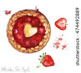 watercolor food clipart  ... | Shutterstock . vector #474492889