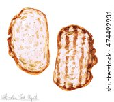watercolor food clipart   two... | Shutterstock . vector #474492931