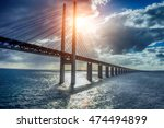 Stock photo the bridge between denmark and sweden oresundsbron 474494899