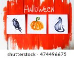 halloween decoration photo with ...   Shutterstock . vector #474496675