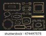 collection of vector golden... | Shutterstock .eps vector #474497575