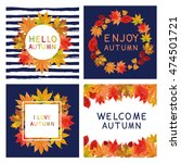 fall set. leaves composition... | Shutterstock .eps vector #474501721