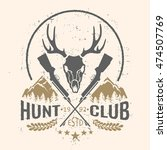 Vector Hunting Club Emblem Wit...