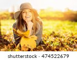 Happy Young Woman In Park On...