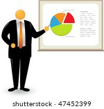 illustration of orange head man ... | Shutterstock .eps vector #47452399
