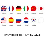speaking flag icon | Shutterstock .eps vector #474526225