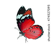 flying red butterfly  plain... | Shutterstock . vector #474527095