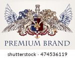 heraldic antique design with... | Shutterstock .eps vector #474536119