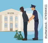 illustration of a robber with... | Shutterstock .eps vector #474544411