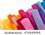 Rolls Of Colored Fabrics Are I...