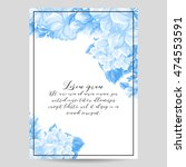 vintage delicate invitation... | Shutterstock .eps vector #474553591