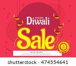 creative sale banner or sale... | Shutterstock .eps vector #474554641