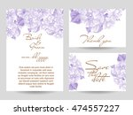 invitation with floral... | Shutterstock .eps vector #474557227