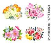 flower set | Shutterstock .eps vector #474558025