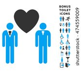 gay lovers icon and bonus...   Shutterstock .eps vector #474559009