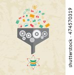 big data and data science... | Shutterstock .eps vector #474570319