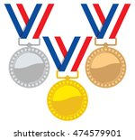 vector set of gold  silver and... | Shutterstock .eps vector #474579901