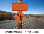 road construction and flagger... | Shutterstock . vector #47458408