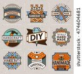 handicraft and diy insignias... | Shutterstock .eps vector #474604681
