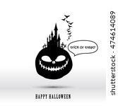 halloween layout design cover... | Shutterstock .eps vector #474614089