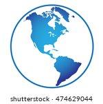 america global world | Shutterstock .eps vector #474629044