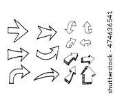 hand drawn arrows illustration... | Shutterstock .eps vector #474636541