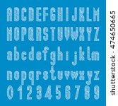 chalk font vector  type letter...   Shutterstock .eps vector #474650665