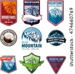 vector set of mountain... | Shutterstock .eps vector #474660769