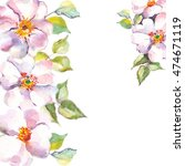 floral background.watercolor... | Shutterstock . vector #474671119