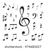 music notes. vector... | Shutterstock .eps vector #474682027