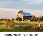 Rural Ontario Barn Sunset